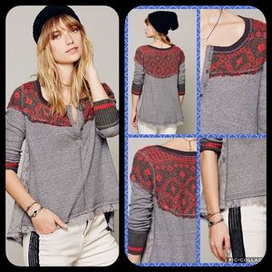 We the Free Free People Cabin Woods Henley Thermal